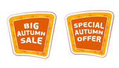 Big sale and special offer autumn banners — Stock Photo