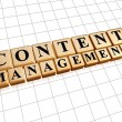 Content management in golden cubes - internet concept — Stock Photo