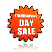 Thanksgiving day sale orange star banner — Stock Photo