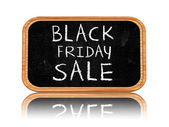 Black friday sale on blackboard banner — Stock Photo