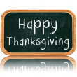 Stock Photo: Happy thanksgiving day on blackboard banner