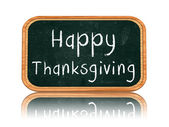 Happy thanksgiving day on blackboard banner — Stock Photo