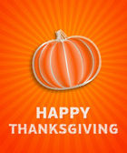 Happy thanksgiving day - autumn illustration with striped pumpki — Stock Photo
