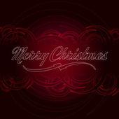 Frohe Weihnachten-Text mit rote Kreise — Stockfoto