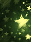 Abstract green background with striped stars, vertical — Stock Photo