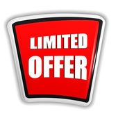 Limited offer on red banner — Foto Stock