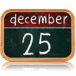 December 25 on blackboard banner — Foto Stock