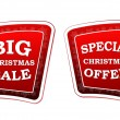 Big christmas sale and special christmas offer on retro red bann — Stock Photo