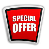 Special offer on red banner — Stockfoto