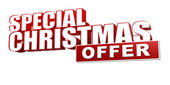 Special christmas offer in 3d red letters and block — Stock Photo