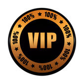 VIP 100 percentages in golden black circle label — Stock Photo