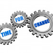 Time for change in silver grey gears — Stock Photo #39271727