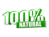 100 percentages natural in 3d letters and block — Stock Photo