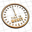 Time is money in golden clock symbol — Stock fotografie #40319777