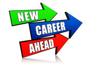 New career ahead in arrows — Stok fotoğraf