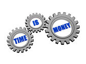 Time is money in silver grey gears — Stock Photo