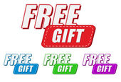Free gift, four colors labels — Photo