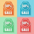 50 percentages sale, four colors web icons — Stock Photo #41577625