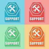 サポート ツールの記号で、4 つの色の web アイコン — ストック写真