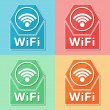 Wifi symbol, four colors web icons — Stock Photo #41766327
