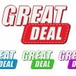 Great deal, four colors labels — Stock Photo #41766331