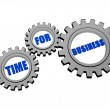 Time for business in silver grey gears — Stock Photo
