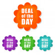 Deal of the day in four colors flowers labels — Stock Photo #44275689