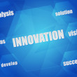 Innovation and business concept words in hexagons — Stock Photo #44275691