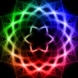 Shining rainbow lights like mandala — Stock Photo #45603923