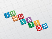 Innovation, flat design — Stock Photo