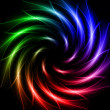 Shining stars, rainbow lights like spiral — 图库照片