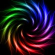 Shining stars, rainbow lights like spiral — Stockfoto