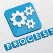 Process and gear wheels symbol, flat design web icon — Stock Photo #48137317