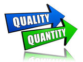 Quality and quantity in arrows — Stock Photo