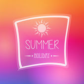 Summer holiday with sun in frame — Foto Stock