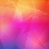 Abstract orange pink background with shining white lines and fra — Stockfoto