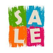 Sale drawn label — Stock Photo