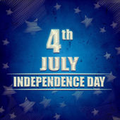 4th of July - American Independence Day - blue retro banner — Stock Photo