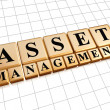 Asset management in golden cubes — Stock Photo #48894325