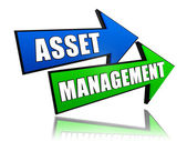 Asset management in arrows — Stock Photo