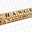 Change-Management in golden cubes — Stockfoto #49150719