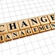 Change management Change management in gouden kubussen — Stockfoto #49150719