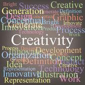 Creativity tagcloud — Stock Vector