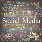 Sociale media tagcloud — Stockvector