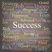 Success tagcloud — Stock Vector