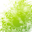 Abstract green foliage background. Vector illustration. — Stock Vector