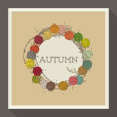 Abstract autumn design with colorful beads. Vector illustration. — 图库矢量图片