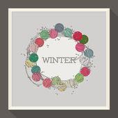 Abstract winter ontwerp met kleurrijke kralen. vectorillustratie — Stockvector