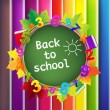 back to school background — Stockvectorbeeld