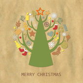 Christmas Vintage Composition — Stock Vector